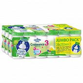 Candia baby croissance 3 bio jumbo pack 25cl x24