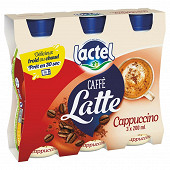 Lactel caffe latte cappuccino uht 3x200ml