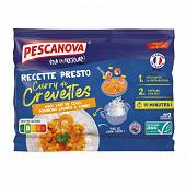 Pescanova recette presto curry de crevettes asc 350g