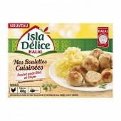 Isla Délice boulettes cuisinées poulet goût rôti et thym halal 400g