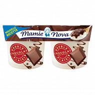 Mamie Nova double plaisir chocolat avec éclats 2x140g