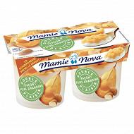 Mamie Nova double plaisir poire amandine 2x140g