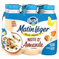 Lactel Lait sans lactose note d'amande 1/2 écrémé matin léger uht