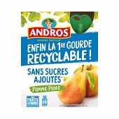 Andros gourde pomme poire ssa 4x90g