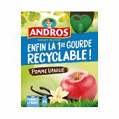 Andros gourdes pomme vanille 4v90g