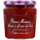 Bonne Maman confiture intense fraise & fraise des bois 335g