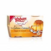 Yabon gâteau de semoule caramel 4x125g