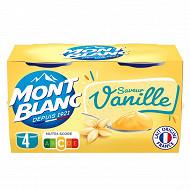 Mont Blanc vanille 4x125g