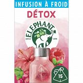 Elephant infusion à froid détox cranberry framboise hibiscus 15x34g