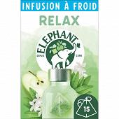 Elephant infusion à froid relax pomme jasmin verveine x15 - 34g