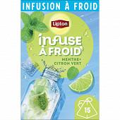 Lipton infuse à froid menthe citron vert x15 - 35g