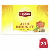 Lipton thé noir yellow label immunité à la vitamine c x20 40g