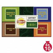 Lipton bio coffret sir thomas 40 sachets 68g