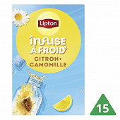 Lipton infusion à froid camomille citron X15 35g