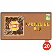 Lipton thé bio darjeeling x20 34gr