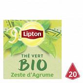 Lipton bio thé vert zeste d'agrume 20 sachets 28g