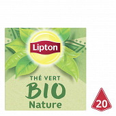 Lipton bio thé vert nature 20 sachets 28g