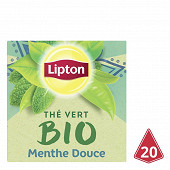 Lipton bio thé vert menthe douce x20 28g