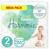 Pampers harmonie langes méga t2 4-8kg x86