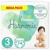 Pampers harmonie langes mega 74ct