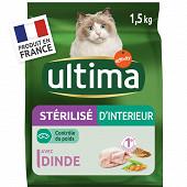 Ultima chat sterilises d'interieur 1.5kg