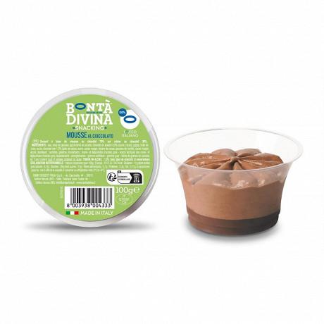 Bonta Divina mousse chocolat coupe crystal avec cuillère 100g