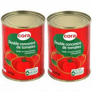 Cora double concentré de tomates lot de 2 x 140g