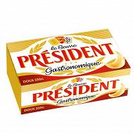 Président beurre gastronomique doux 82% mg plaquette 250g