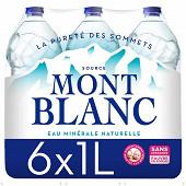 Mont Blanc eau minérale naturelle 6x1l