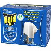 Raid diffuseur électrique liquide moustiques & tigres Sans Parfum 45 nuits
