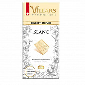 Villars tablette chocolat blanc pur 100g