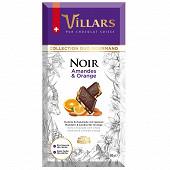 Villars tablette noir amandes orange 180g