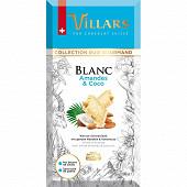 Villars tablette chocolat blanc amandes coco 180g