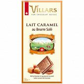 Villars tablette fourrée lait caramel au beurre salé 150g