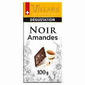Villars tablette noir amandes caramélisées 100g