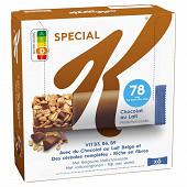Kellogg's Spécial K barres chocolat au lait x6 120g