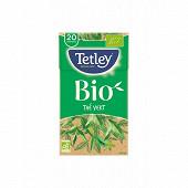 Tetley thé vert classique bio x20 40g
