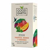 Good earth botanical tea infusion mangue tropical et moringa 15s 42g
