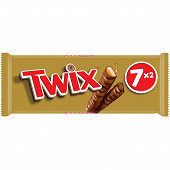 Twix barre chocolat biscuit caramel 7x2 350g