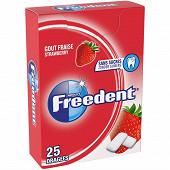 Freedent chewing-gum sans sucres fraise x25 - 35g