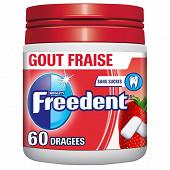 Freedent chewing-gum sans sucres menthe fraise 5x10 - 70g