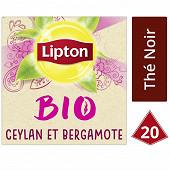 Lipton the noir bio ceylan et bergamote x20 30g