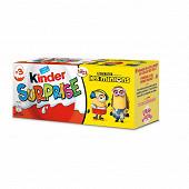 Kinder surprise t3 pack de 3 oeufs unisexe 60g
