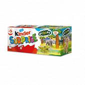 Kinder surprise t3  pack de 3 oeufs natoons 60g