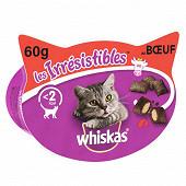 Whiskas  boîte friandises pour chat les irrésistibles au boeuf 60g