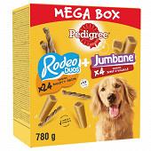 Pedigree mega box mix récompenses rodeo et jumbone pour chien 780g