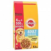 Pédigree croquettes au poulet pour chien adulte 4kg +500g