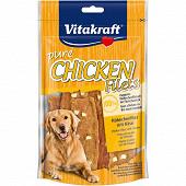 Vitakraft chicken filets aux dés de fromage 80 grammes pour chien