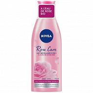 Nivea visage lait micellaire 2en1 démaquillant à l'eau de rose bio aqua care 200ml