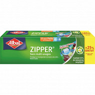 Albal sacs zipper pm +25% offert